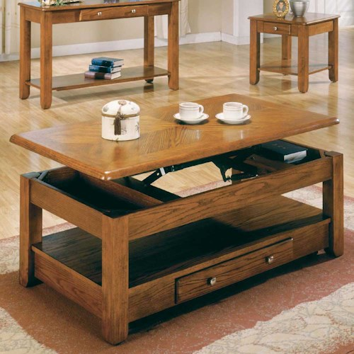Steve Silver Nelson Lift-Top Cocktail Table with drawer