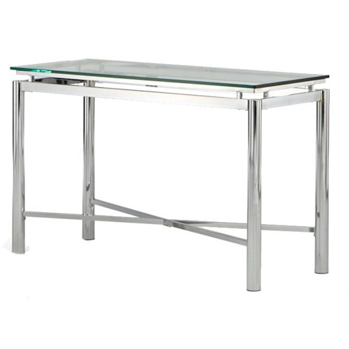 Vendor 3985 Nova Glass Top Sofa Table