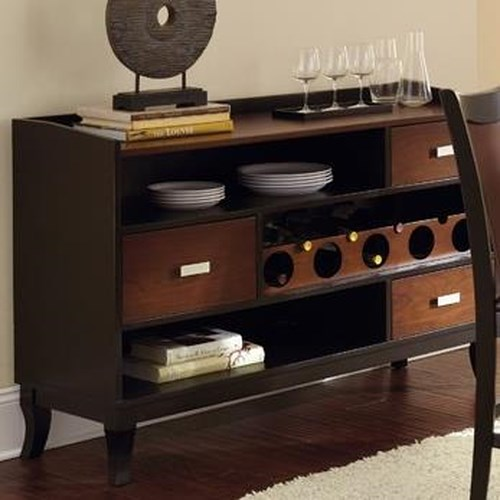 Morris Home Furnishings Oakton Two Tone Brown/Black Dining Room Server