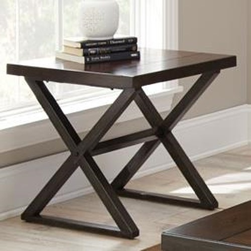 Vendor 3985 Omaha End Table with Metal Base