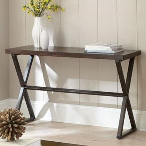 Steve Silver Omaha Sofa Table with Metal Base