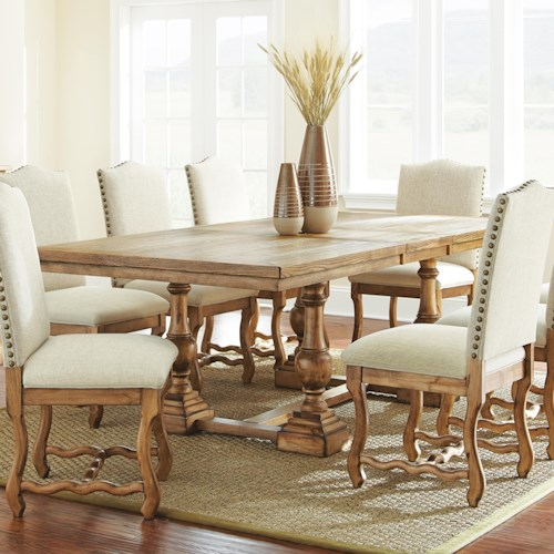 Vendor 3985 Plymouth Light Finished Dining Table with Leaf