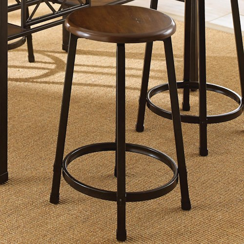 Morris Home Furnishings Rebecca Round Counter Stool with Metal Legs