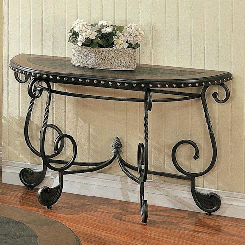 Morris Home Furnishings Rosemont Traditional Metal Sofa Table