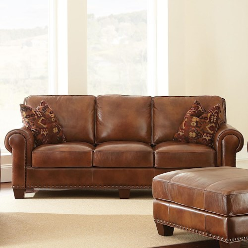 Morris Home Furnishings Silverado Traditional Sofa with Nailhead Trim
