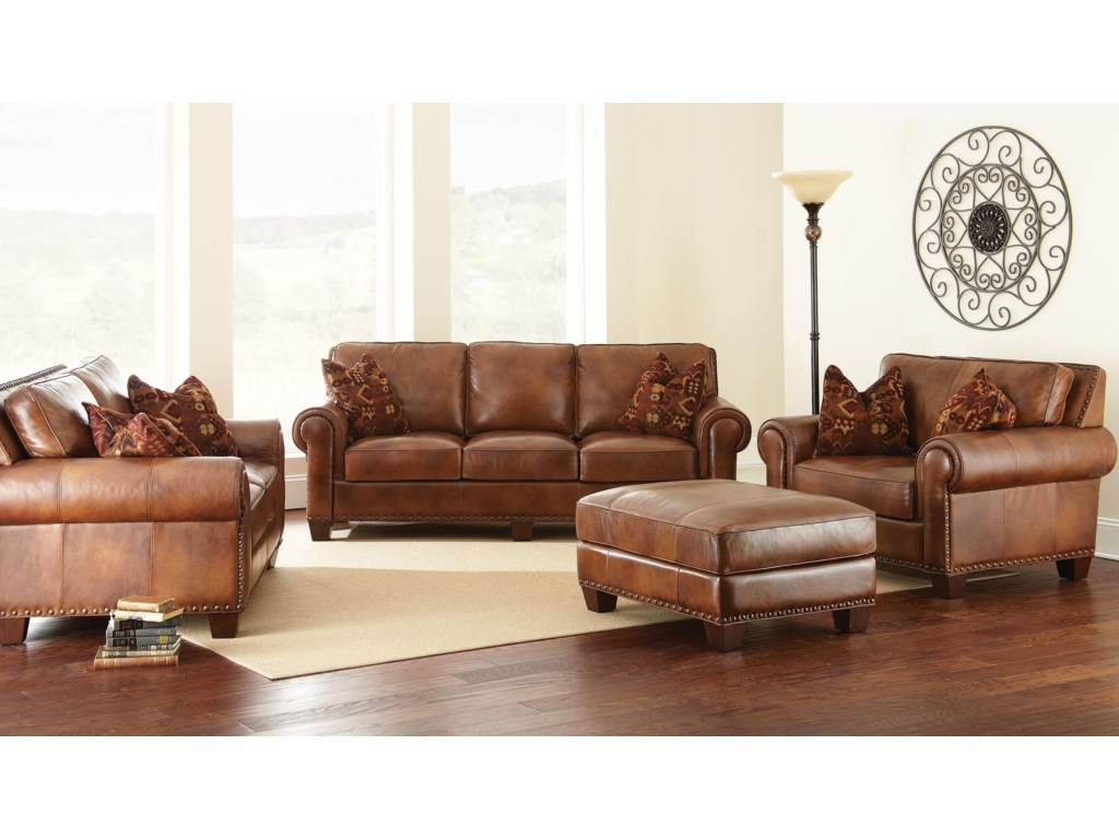 Shown with Loveseat, Chair and a Half, and Ottoman