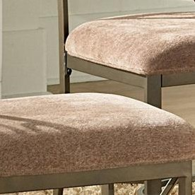Pale Pink Upholstered Seats