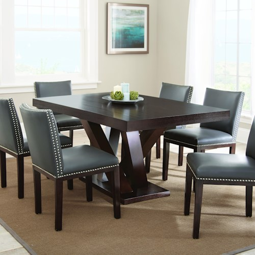 Morris Home Furnishings Tiffany 7 Piece Dark Espresso Cherry Dining Set