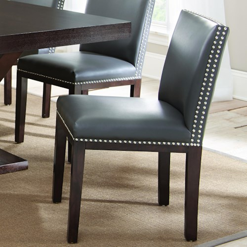 Vendor 3985 Tiffany Bonded Leather Chair with Nailhead Trim