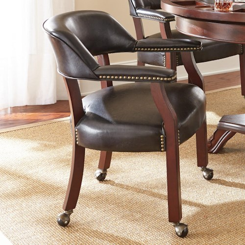 Morris Home Furnishings Tournament Tournament Game Arm Chair with Casters