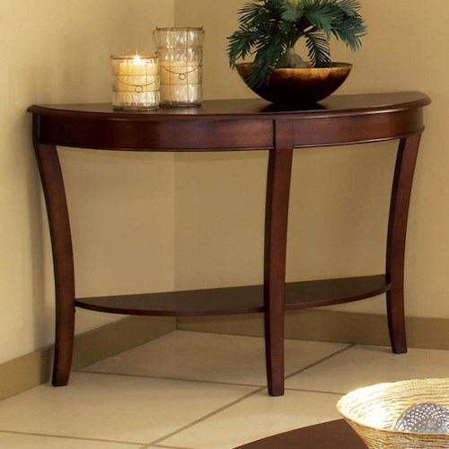 Morris Home Furnishings Troy Sofa Table with Sabered Legs