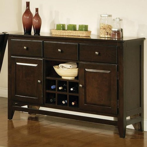 Vendor 3985 Victoria  3 Drawer, 2 Door Victoria Server with Wine Rack