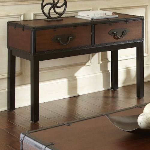 Morris Home Furnishings Voyage Sofa Table, 2 drawer sofa table