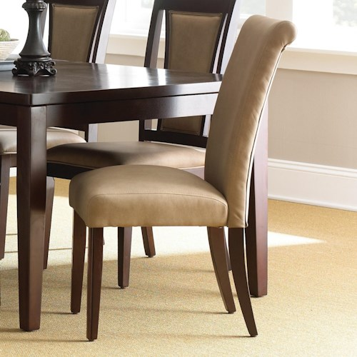 Vendor 3985 Wilson Contemporary Parsons Side Chair with Tapered Legs
