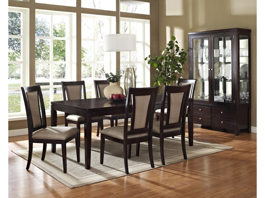 Shown in 7-Piece Dining Set with China Cabinet