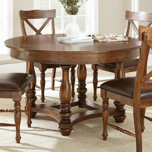 Vendor 3985 Wyndham Round Dining Table with Turned Legs
