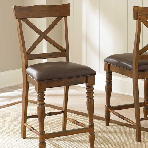 Morris Home Furnishings Wyndham Counter Chair with X Back