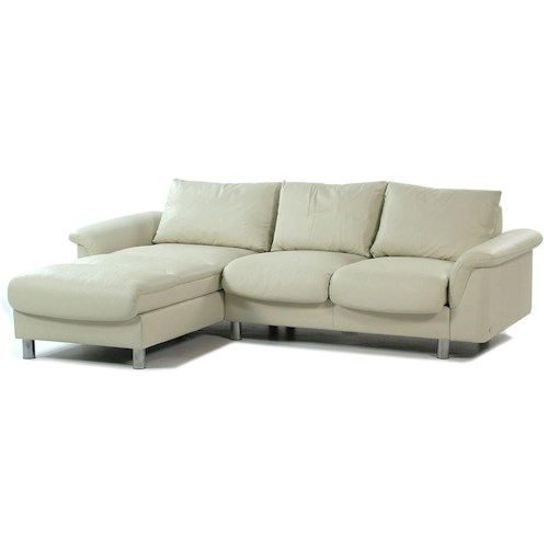 Stressless by Ekornes E300 Ergo Leather Reclining Sectional w/ Chaise