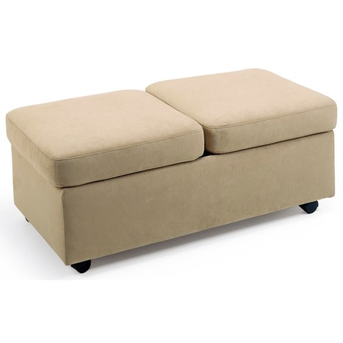 Stressless by Ekornes Stressless Accessories Double Ottoman with Casters