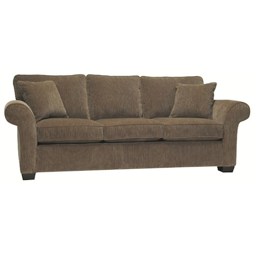 Stylus 7054 Stationary Traditional Sofa with Rolled Arms