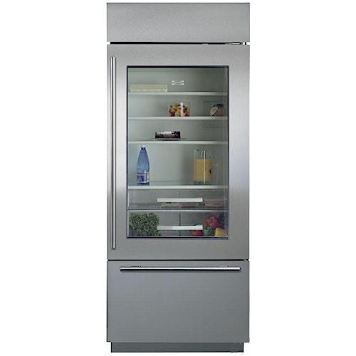 Sub-Zero Built-In Refrigerators 16.8 Cu. Ft. Bottom Freezer Refrigerator with Glass Door