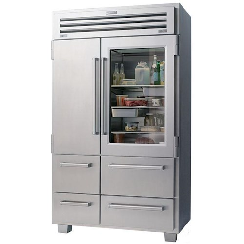 Sub-Zero PRO 48 Refrigeration Professional Series 30.1 Cu. Ft. French-Door Refrigerator with Glass Door