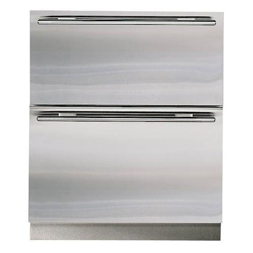Sub-Zero Undercounter Refrigeration ENERGY STAR® 5.0 Cu. Ft. Integrated Refrigerator-Freezer Combination Drawers