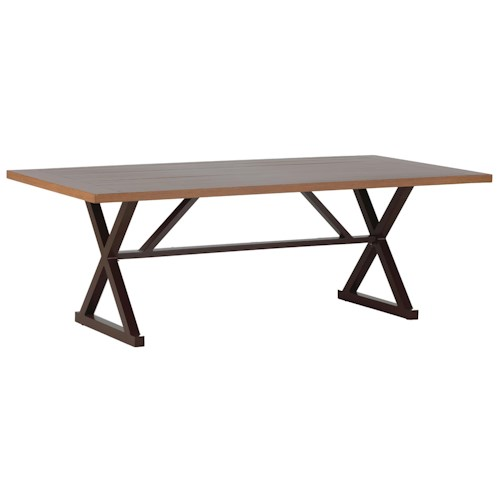 Summer Classics Belize Cahaba Rectangular Dining Table with Aluminum Base