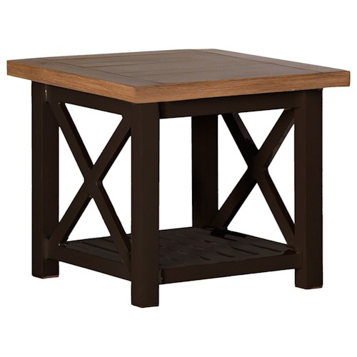 Summer Classics Belize Cahaba End Table with Shelf