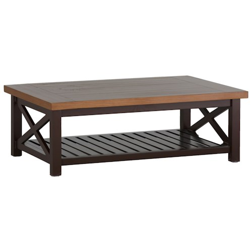 Summer Classics Belize Cahaba Coffee Table with Shelf