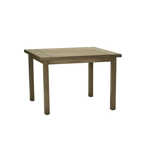 Summer Classics Club Aluminum Club Square Outdoor Dining Table