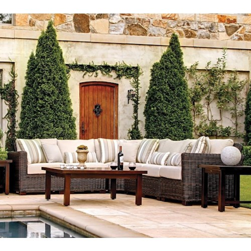 Summer Classics Rustic Outdoor Rustic Sectional Sofa