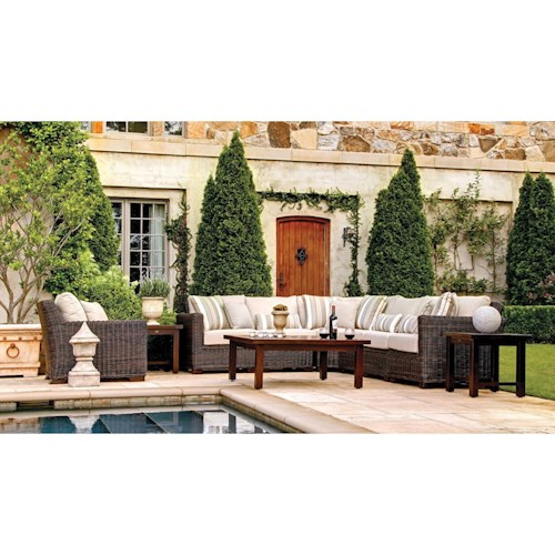 Summer Classics Rustic Outdoor Sectional and Chair Set