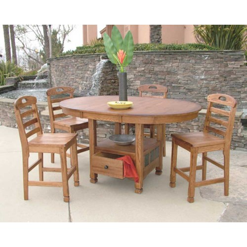Sunny Designs Sedona Rustic Oak 5 Piece Dining Set