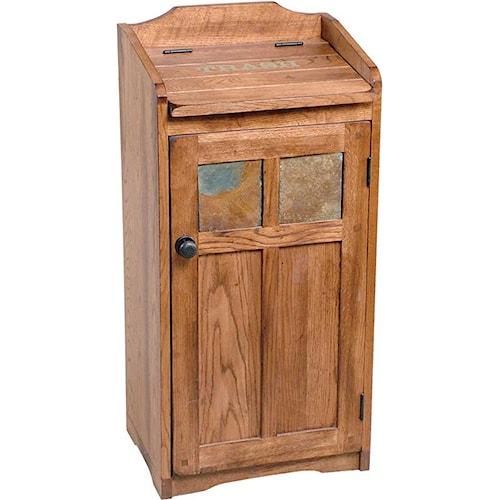Morris Home Furnishings From Morris Home Furnishings - Rustic Oak Trash Bin
