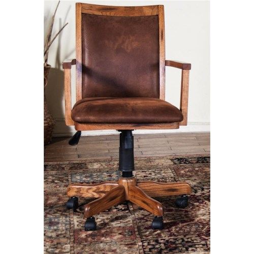 Morris Home Furnishings From Morris Home Furnishings - Gas Lift Arm Desk Chair