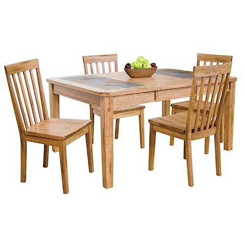 Morris Home Furnishings Belfast 5-Piece Dining Set
