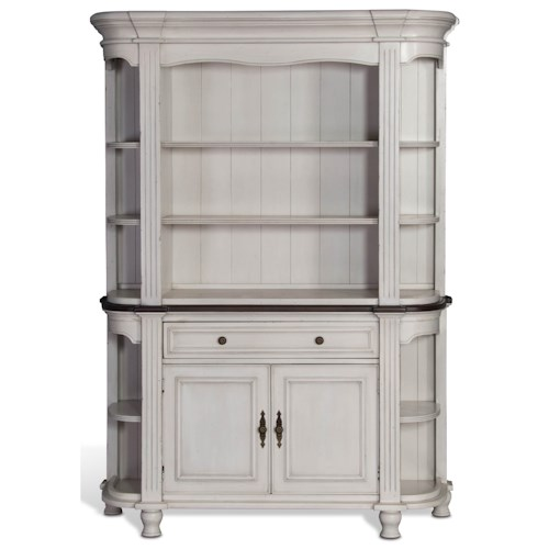 Sunny Designs Bourbon Country Two-Tone Demilune Buffet & Hutch