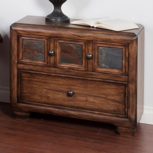 Sunny Designs Coventry Nightstand with Slate Tiles