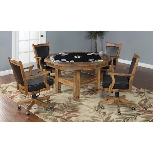 Morris Home Furnishings Elkhart 5-Piece Game Table Set