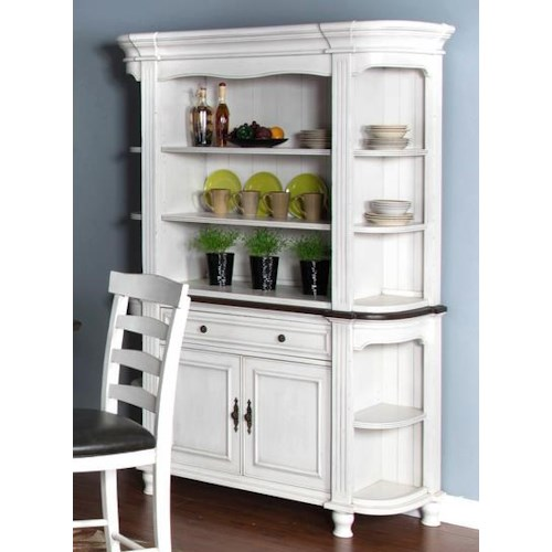 Morris Home Furnishings Fairbanks Dining Buffet and Hutch