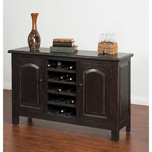 Morris Home Furnishings Meiomi Sideboard with Wine Storage