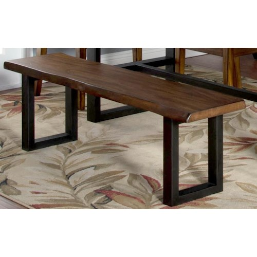 Morris Home Furnishings Minden Live Edge Bench