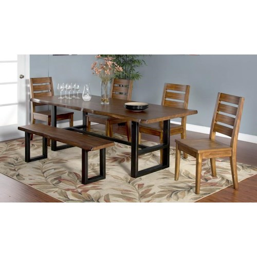 Morris Home Furnishings Minden 5-Piece Dining Set includes Table and 4 Side Chairs