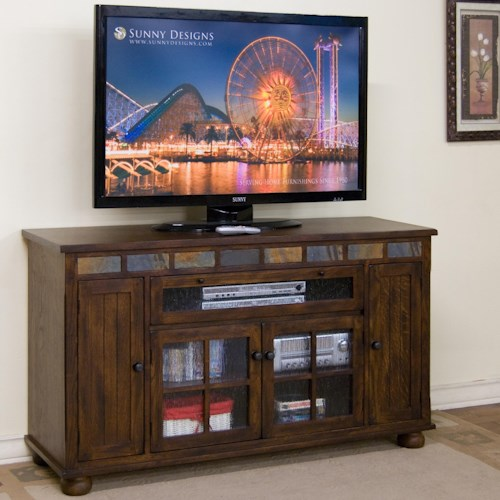 Sunny Designs Oxford Counter Height TV Console