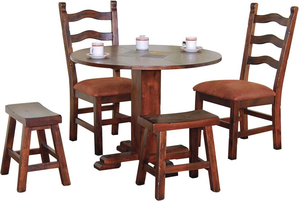 Shown with Dining Side Chairs and Stools