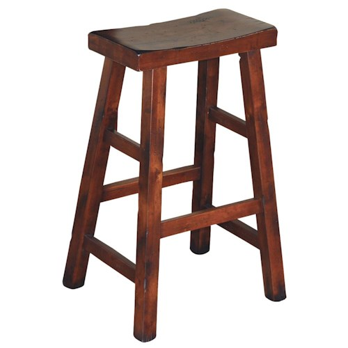 Sunny Designs Santa Fe Traditional 30 Inch High Saddle Seat Stool