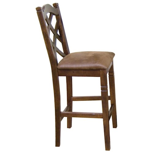 Sunny Designs Santa Fe Traditional 30 Inch Double Crossback Bar Stool