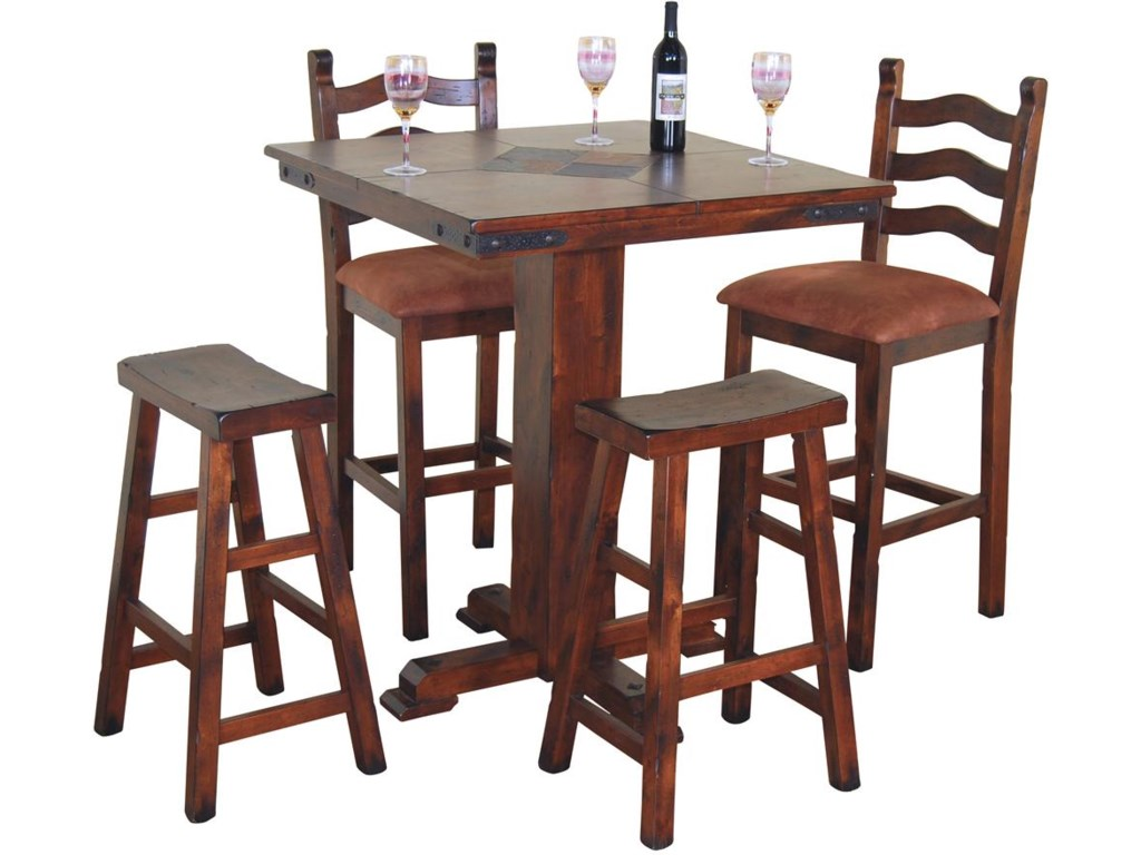 Shown with Saddle Seat Stools and Pub Table