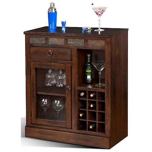 Sunny Designs Santa Fe Mini Bar Cabinet